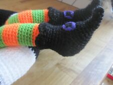 HAND KNITTED SPOOKY WITCH THEMED HALLOWEEN WREATH. FABULOUS