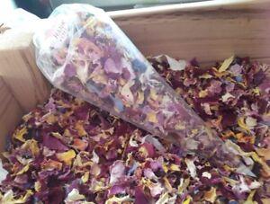 1 Pint Real flower Wedding Confetti, decoration,biodegradable, 100% petal, dried