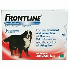 Frontline Spot On XLarge Dog 40-60kg (3Pipettes) - 20048