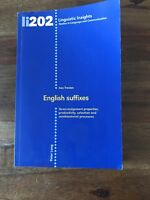 Linguistic Insights Ser. Studies in Language and Communication: English Suffixes