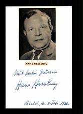 Hans Hessling Original Signiert # BC 114764
