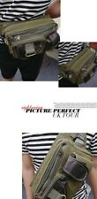 NEW Bum Bag Travel Outdoor Multifuctional Waist Belt Belly Bag Canvas 6 pockets