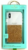 kate spade new york - Protective Case for Apple iPhone X and XS - Clear/Gold