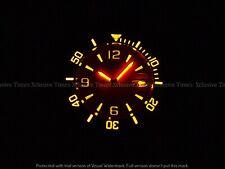 Tresod Men SuperLuminova Ocean Master Auto Orange Dial Sapphire 18KGIP SS Watch