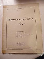 Partitura Ejercicios para piano de I Philipp