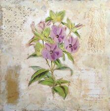 Starlie Sokol Hohne Untitled Floral Mixed Media Artwork purple flowers MakeOffer