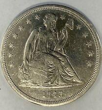 1843 $1 Seated Liberty Dollar #2A