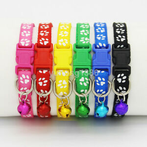 New Adjustable Small Size Pet Cat Puppy Dog Collar With Ring Bell Buckle Lovely
