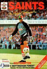 Southampton v Nottingham Forest programme, Premier League, September 1994