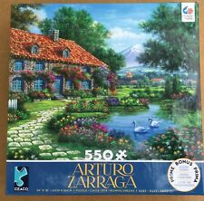 Ceaco Jigsaw Puzzle Arturo Zarraga Rustic Cottage with Swans NEW