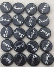 20 Black Britvic  Bottle Tops Crown Caps.