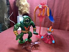 vintage he-man action figures lot Leech , Orko, Zoar See Pictures