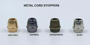 ROUND SNG SOLID HEAVY BRASS CORD STOPPER LOCK END TOGGLES VARIOUS QUANTITIES