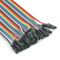 40x 20cm Female toFemale Color Ribbon Line Cable Jump Wire Jumper Breadboard New