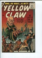 YELLOW CLAW  #1  8.5/9.0 (RESTORED)  VERY SCARCE 50'S ATLAS!  OW/WHITE PAGES
