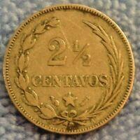 1888-A Dominican Republic 2-1/2 Centavos Silver Coin  Scarce KM# 7.3