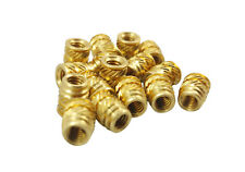 20x #8-32 Brass Threaded Inserts Heat Set for Screws 3D Printing Plastic (Long)