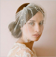 Wedding headdress Bridal net Birdcage Face Veil Fascinator veils with Com New
