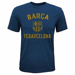 FC BARCELONA YOUTH T-SHIRT TEAM CREST/LOGO SIZES SMALL-XL