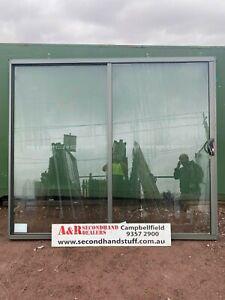 NEW Aluminium SLIDING DOOR 2100h x 2400w (approx size) 5 COLOURS