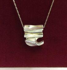 Vintage 1970's Scandinavian Designer / Finnish Solid Silver Lapponia Necklace
