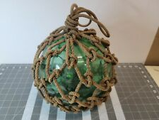 Large Japan Green Glass Netted Fishing Float