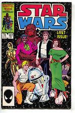 Star Wars 107 Marvel 1986 VG Luke Skywalker Han Solo Princess Leia Final Issue