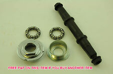 3S BOTTOM BRACKET AXLE SET COMPLETE WITH CUPS & QUALITY BEARING SET THREADED NEW