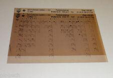 Microfiche Catalogue des Pièces de Rechange BMW R 80 G/S Moto Febr. 1981