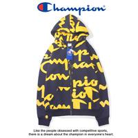 Men's Women's Champion Hooded Sweater Hoodie Sweatshirts Long Sleeve Embroidered