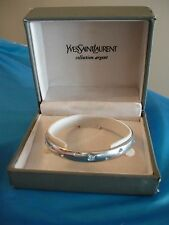 Vintage Yves Saint Laurent YSL Collection Argent Sterling Silver  Bracelet