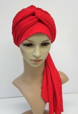 Turbante para De mujer, volumen turbante, Turbante Sombrero, Rojo Headwear, Bufanda Bad Hair Day