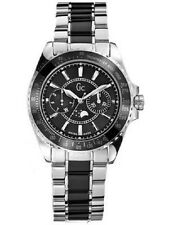 New GUESS Women GC Moon phase black Stainless Steel Watch  41005m2 Black GC  box