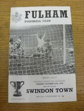 27/10/1970 Fulham v Swindon Town [Football League Cup] . Item appears to be in g