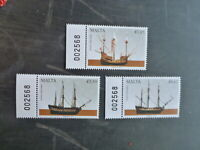 MALTA 2017 MALTESE SHIPS SET 3 MINT STAMPS MNH