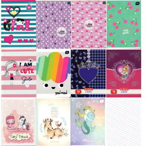 Little Princess design Handwriting exercise books 3-lined. Zeszyt w 3 linie