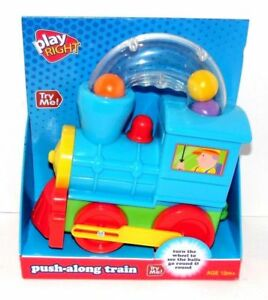 PlayRight Toddler Toy Train Push Along ‑ Ball Blowing Moving Toy Train