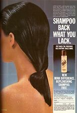 1983 Mink Replenishing Shampoo Hair Care Print Ad Advertisement Vintage 80s