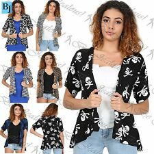 Viscose Short Sleeve Button Jumpers & Cardigans for Women