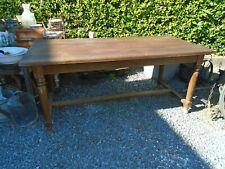 Table de ferme, table chêne massif, table style ancien, barre à chat