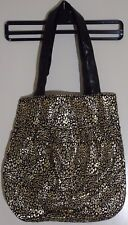 George Asda Las Medium Black Gold Handbag With Design