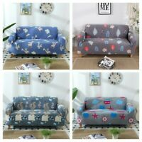 1/2/3/4 Seater Cartoon Stretch Sofa Covers Protector Couch Cover Slipcover