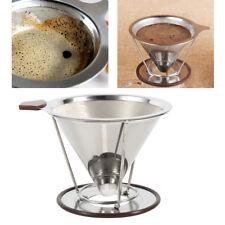 304 Edelstahl Kaffeefilter Halter Doppelschicht Dauerfilter Kaffeebereiter