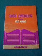 Banjo Americain  A 5 cordes  Billy Mauray  Editions Paul Beuscher