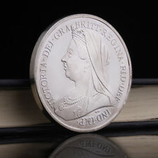 Queen Victoria St. George Dragon Silver Plated Commemorative Coin Collection