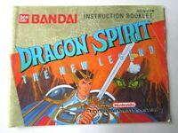 Nintendo Dragon Spirit The New Legend NES  Instruction Manual Only -AB-11