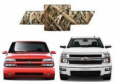 Camo Mossy Oak Front Bowtie Grill Tailgate Decal Overlay For Chevrolet Silverado