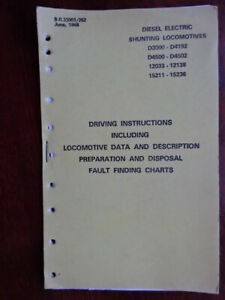 BOOK - 1968 DRIVING INSTRUCTIONS FOR D3000-4192 D4500-4502 12033-12138 15211-152