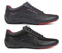 Hugo Boss Men's  Carbon Fibre HB Racing Sport Fashion Leather Sneakers Shoes