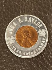 Vintage 1965 John Saylor House Representatives PA Pennsylvania Encased Penny